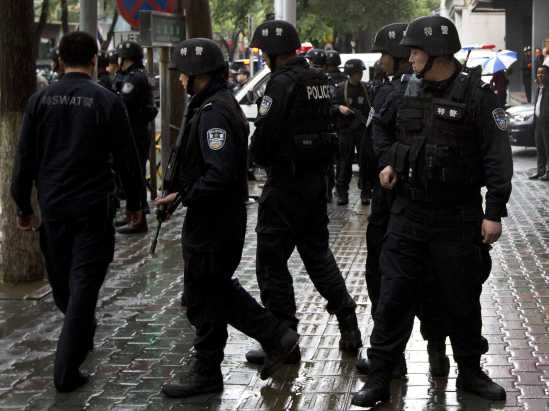 CHINA Police - In Uygur minority Region - December 2014